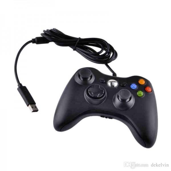 Joystick Microsoft Xbox 360 con cable Negro
