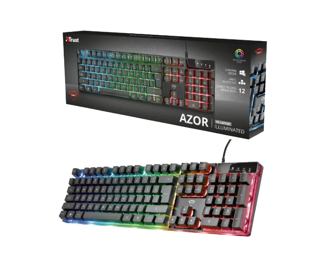 Teclado GXT 835 Azor Illuminated Gaming Keyboard – TRUST