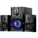 Parlante Bluetooth multimedia 2.1 con FM, MP3 y luces – NISUTA