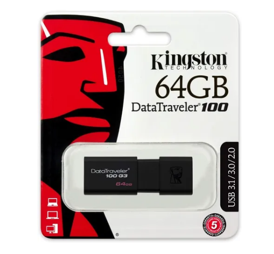 Pendrive Datatraveler 100 G3 ORIGINAL 64gb Usb – KINGSTON
