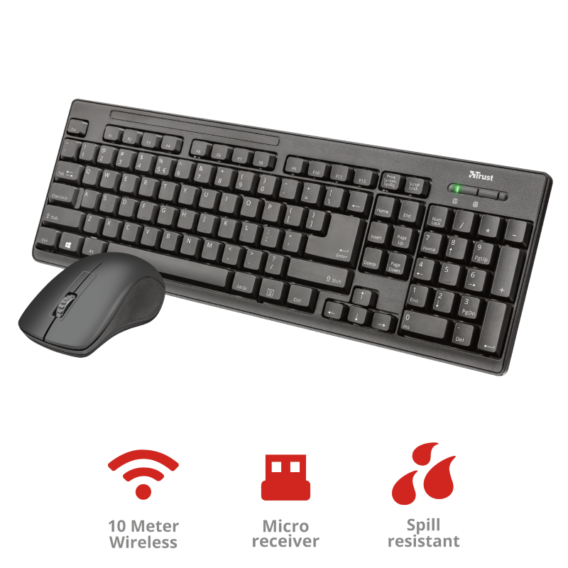 COMBO inalámbrico Ziva Wireless Teclado y Mouse – TRUST