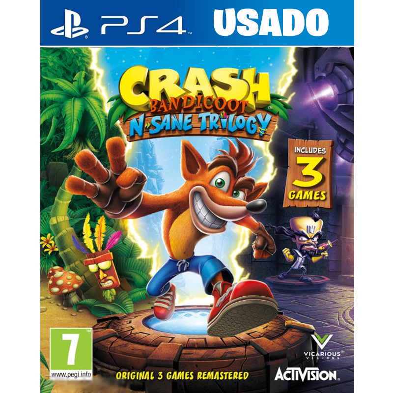 Crash Bandicoot: N. Sane Trilogy (PS4 / FISICO USADO )