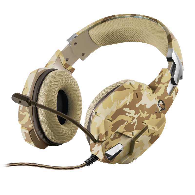 Auricular for PS4 GXT 322D Carus Gaming Headset – desert camo – TRUST
