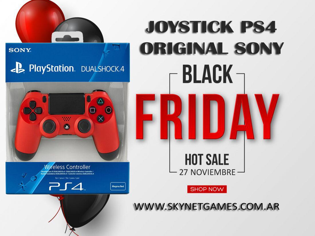 Joystick Sony Dualshock PS4 Rojo – SONY / BLACK FRIDAY!!!