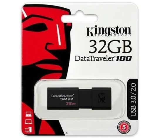 Pendrive DT100 G3 32GB Usb 3.1/3.0/2.0 – KINGSTON