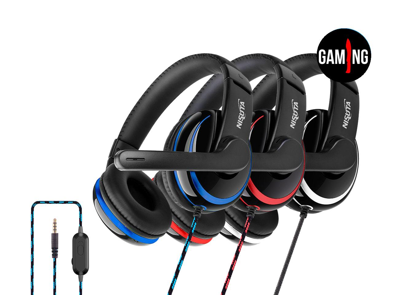 Auricular Gaming  PS4 tipo vincha con micrófono NS-AU60S- NISUTA