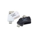 Adaptador OTG Micro USB y  USB hembra con lectora de Micro SD