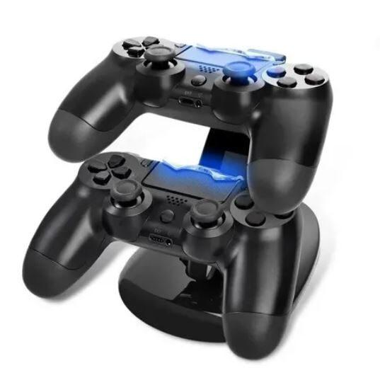 Base Cargador Para 2 Joystick Ps4/ Dual Usb Charging Stand